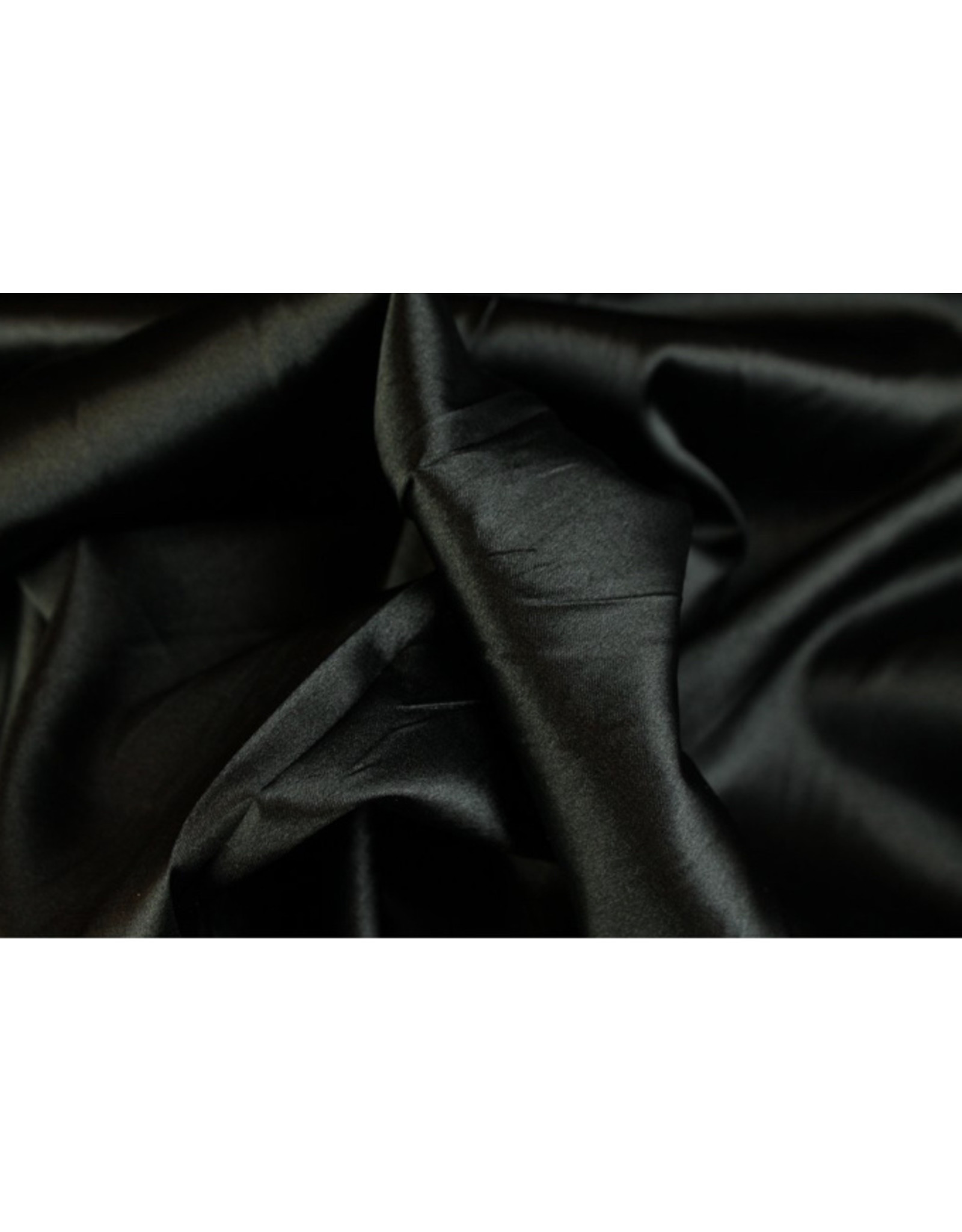 Silk Satin stretch- Black