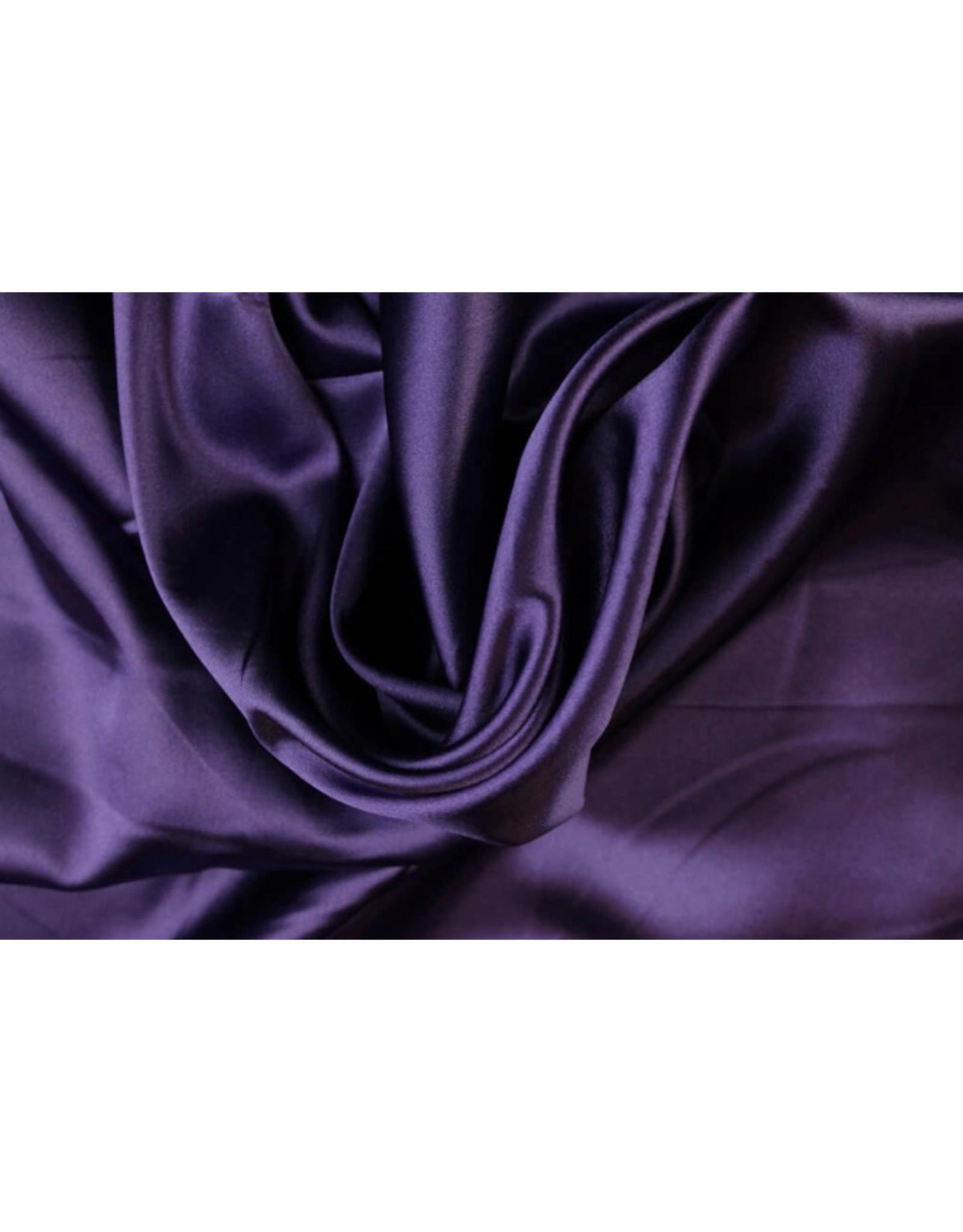 Silk Satijn stretch - Paars