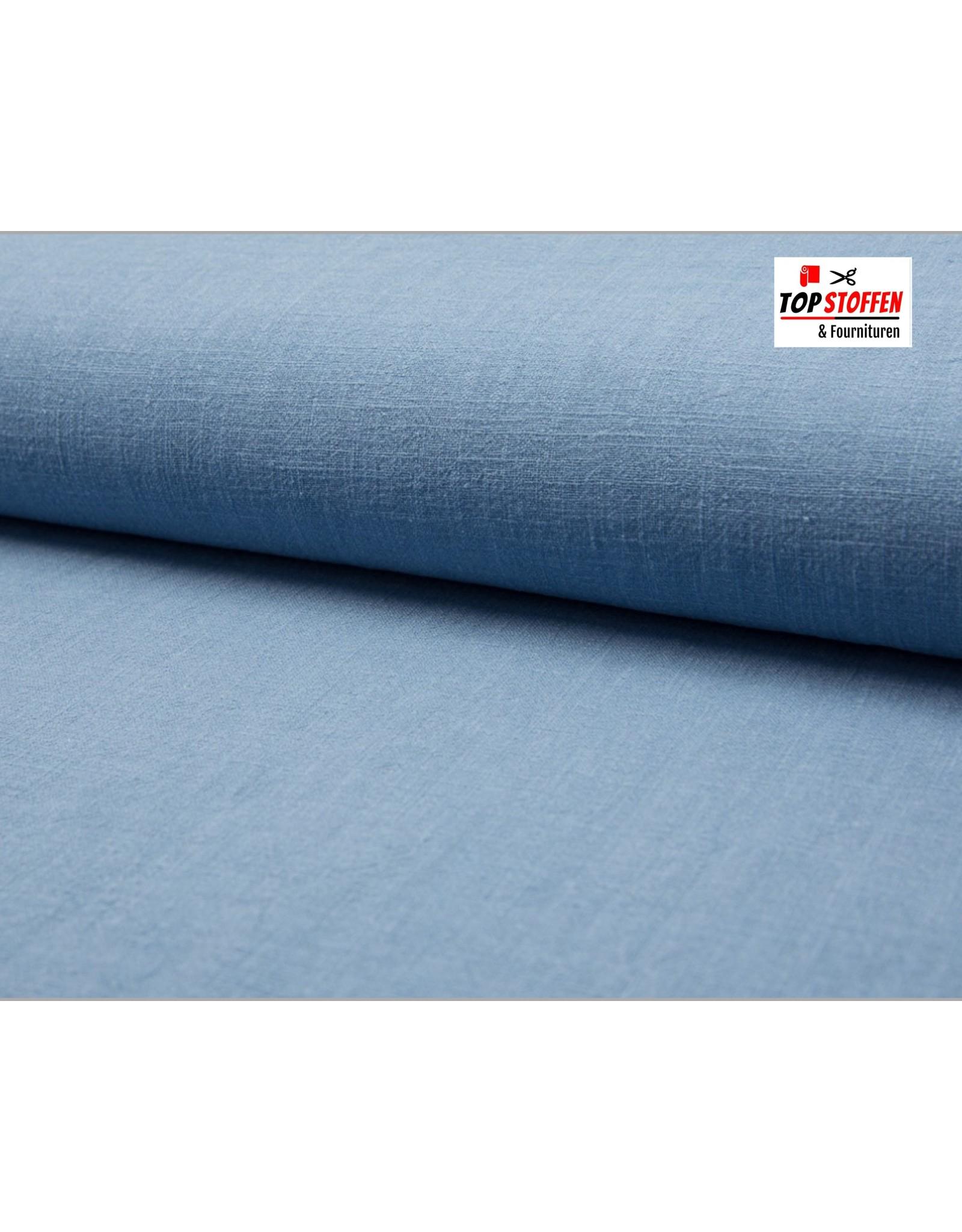 Gewassen Linnen - Jeans blauw