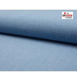 Pflanzen Leinen - Jeans blau