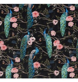 Nobodeco Home Velvet fabric Animals Black