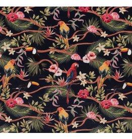Nobodeco Home Velvet fabric Animals Navy