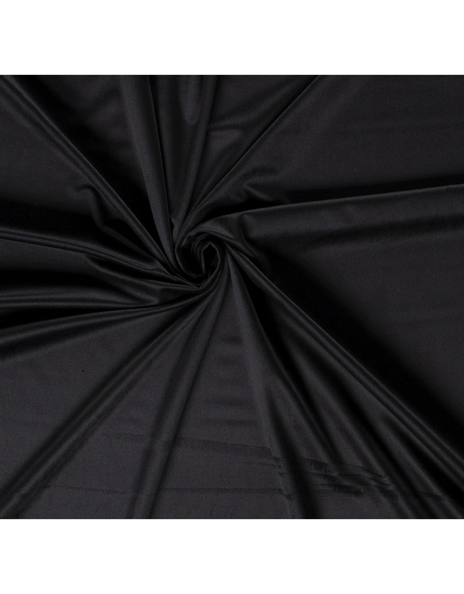 Nobodeco Home Fluweel stof Uni Zwart