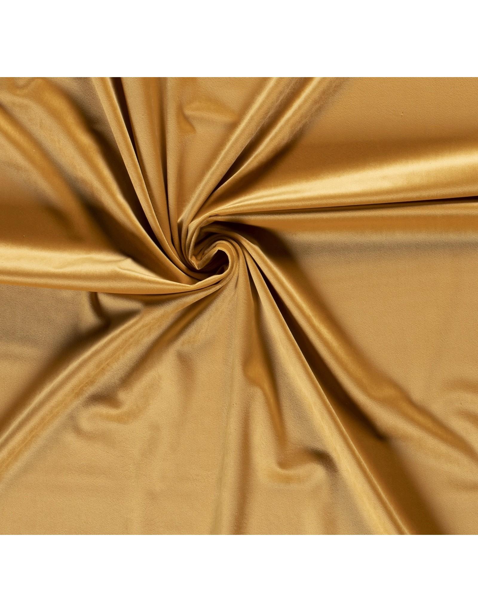 Nobodeco Home Velvet fabric Unicolour Yellow