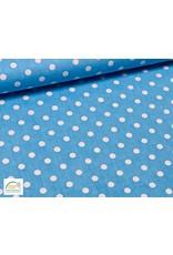 Qjutie Collection Qjute Kids poplin big dots - Aqua