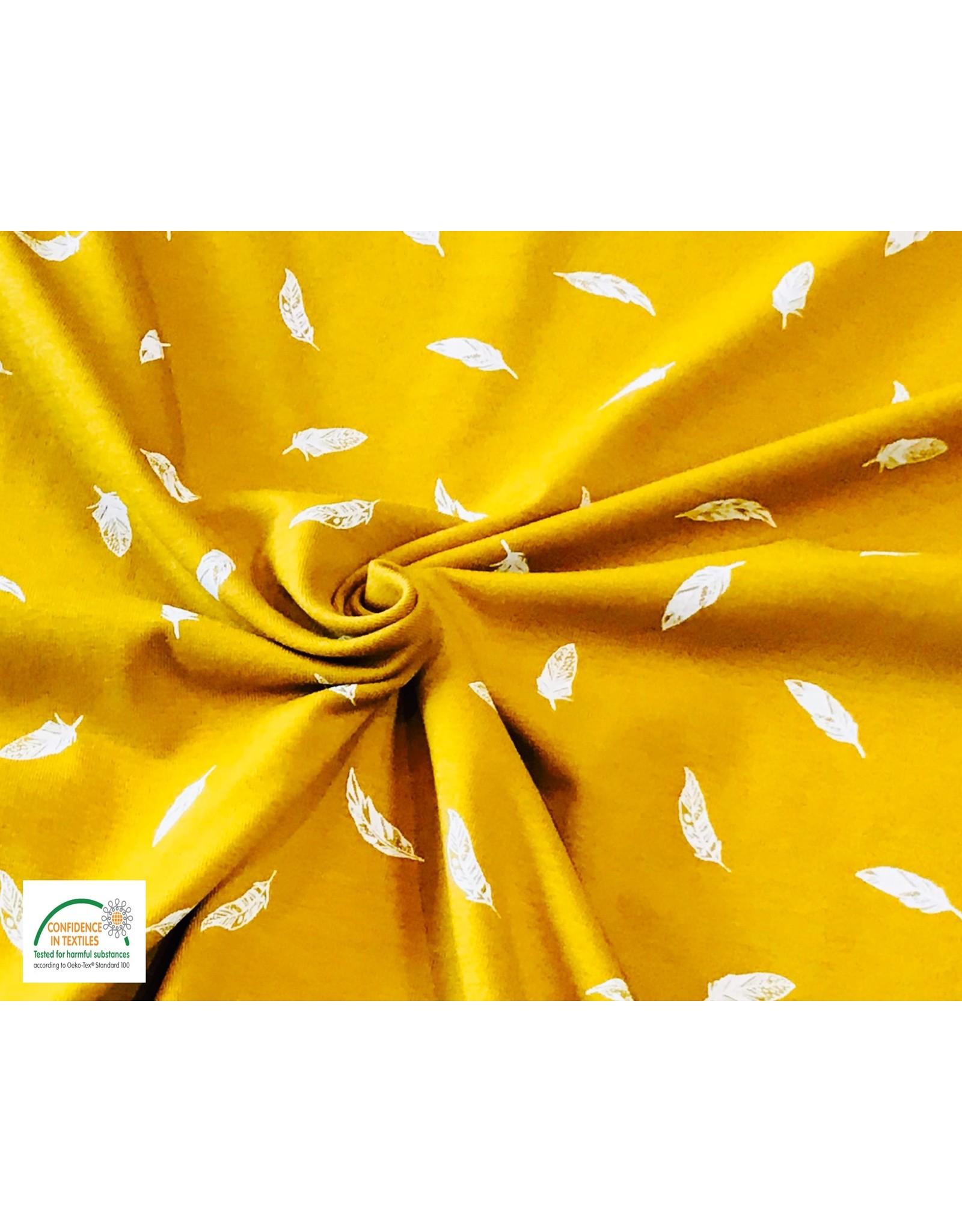 Qjutie Collection Qjutie tricot feathers okergeel