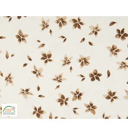 Qjutie Collection Cotton jersey flowers camel