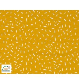 Qjutie Collection Cotton jersey confetti ocre