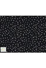 Qjutie Collection Baumwolljersey confetti schwarz