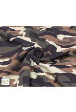 Qjutie Collection Cotton jersey print camouflage