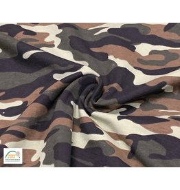 Qjutie Collection Cotton jersey print camouflage