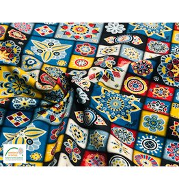 Megan Blue Fabrics Cotton jersey print mandala