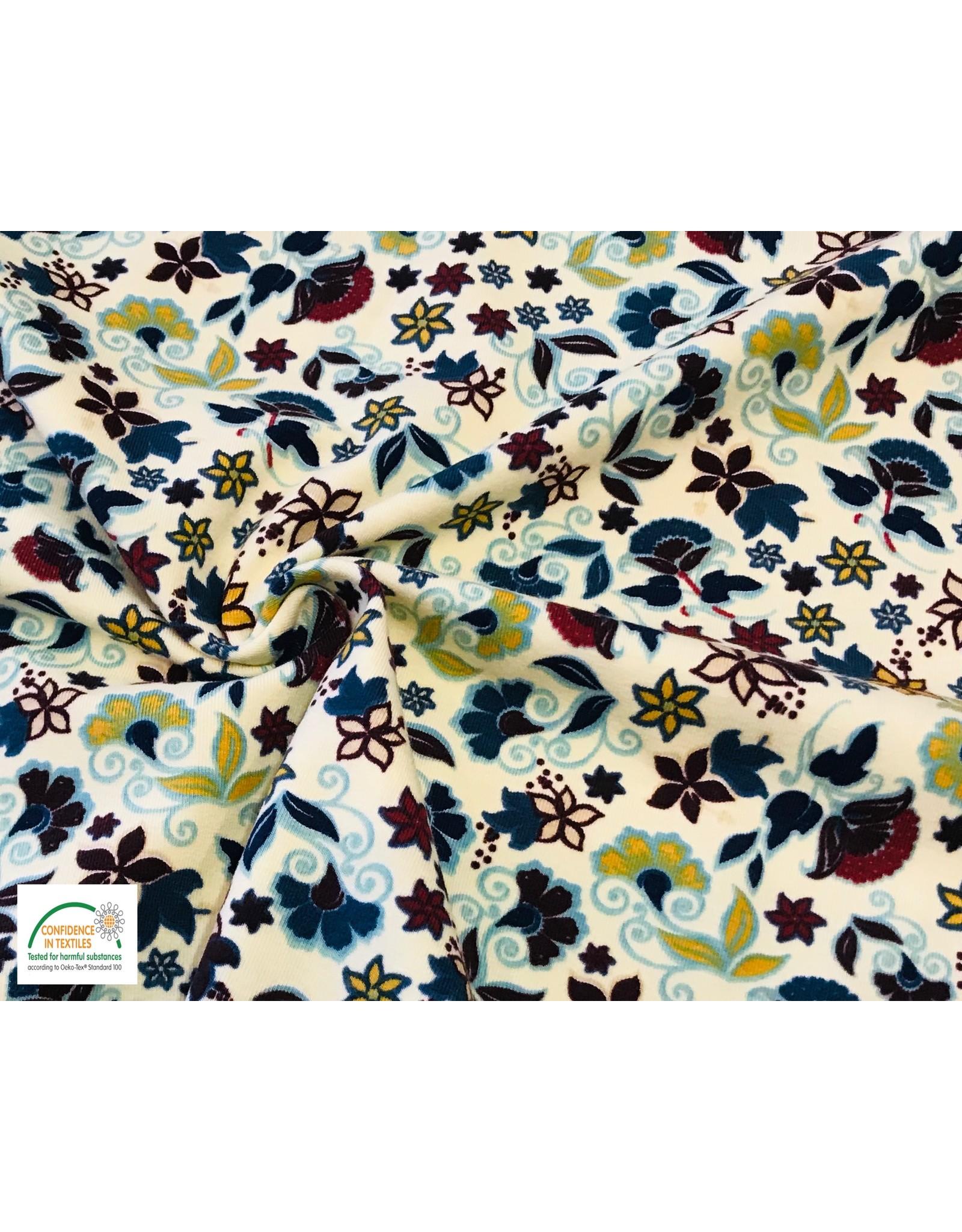 Megan Blue Fabrics Cotton jersey print ecru