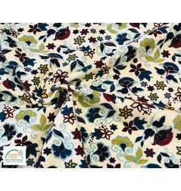 Megan Blue Fabrics Megan blue tricot ecru