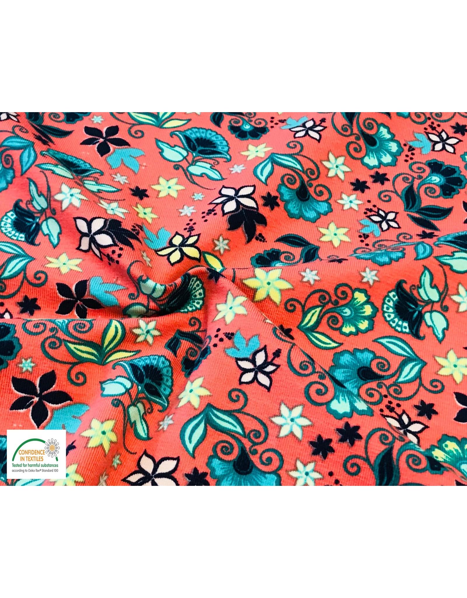 Megan Blue Fabrics Baumwolljersey gedruckt