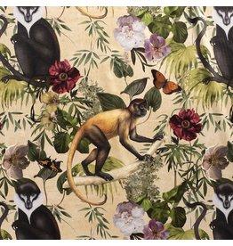 Nobodeco Home Velvet fabric Animals Beige