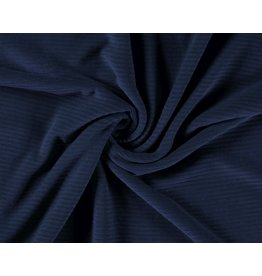 Cotton jersey Corduroy - Indigo
