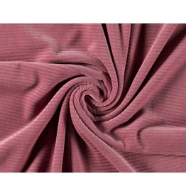 Cotton jersey Corduroy - Old Pink