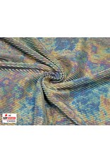 Plissé Stoff silber tie-dye