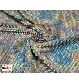 Plissé Fabric silver tie-dye