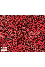 Plissé Fabric ferrari leopard