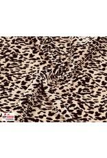 Plissé Fabric powder pink leopard