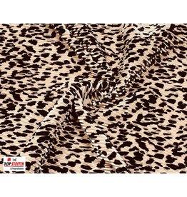 Plissé Stoff puderrosa panther