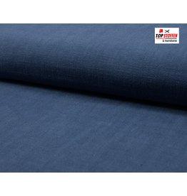 Pflanzen Leinen - Dunkel Jeans blau