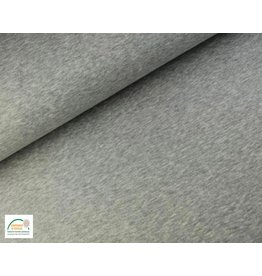 Joggingstoff - Grau Melange