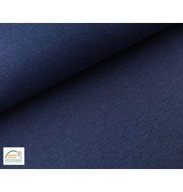 Joggingstoff - Dunkel Jeans Melange