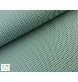 Waffle Cotton Old green