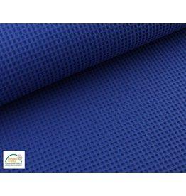 Waffelpiqué Baumwolle Kobalt