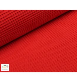 Waffle Cotton Red