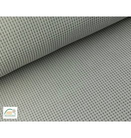 Waffelpiqué Baumwolle Silber