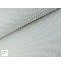 Waffelpiqué Baumwolle Weiß