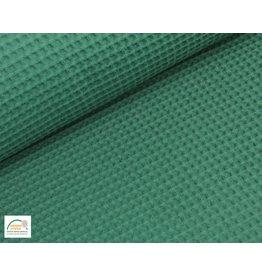Waffelpiqué Baumwolle Emerald Jade