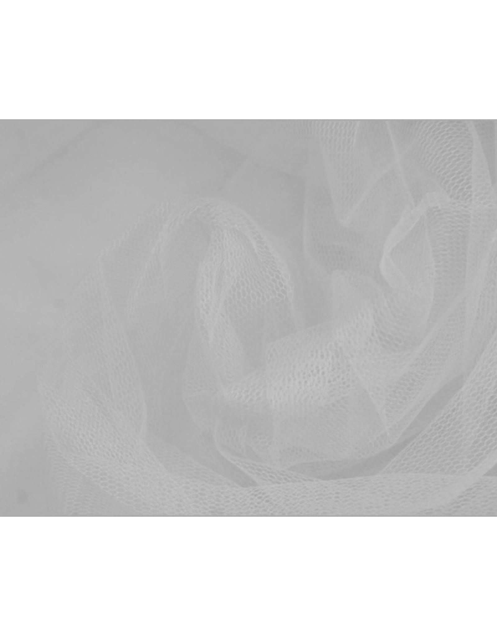 Uni Tüllstoff - Weiß
