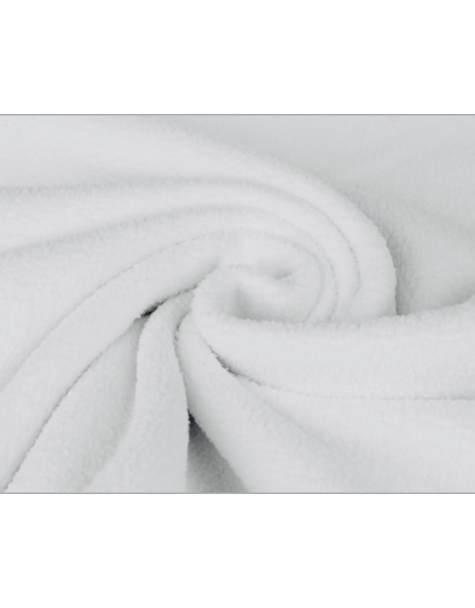 Sherpa Fleece Cotton - White