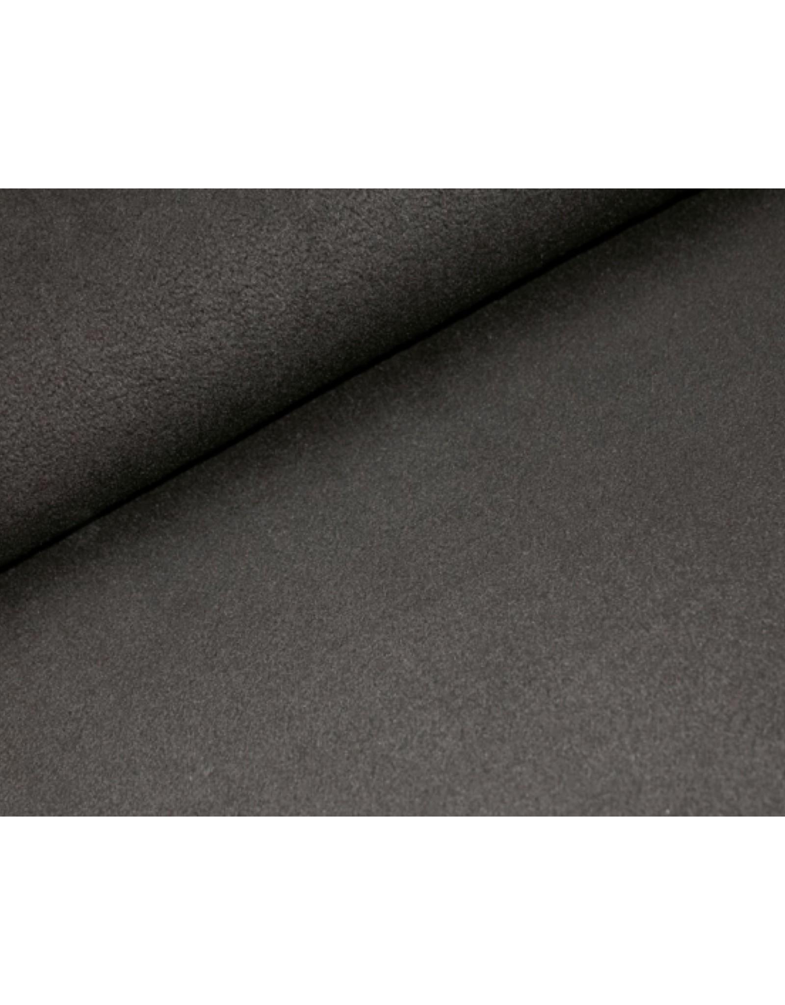 Polar Fleece stof Zwart