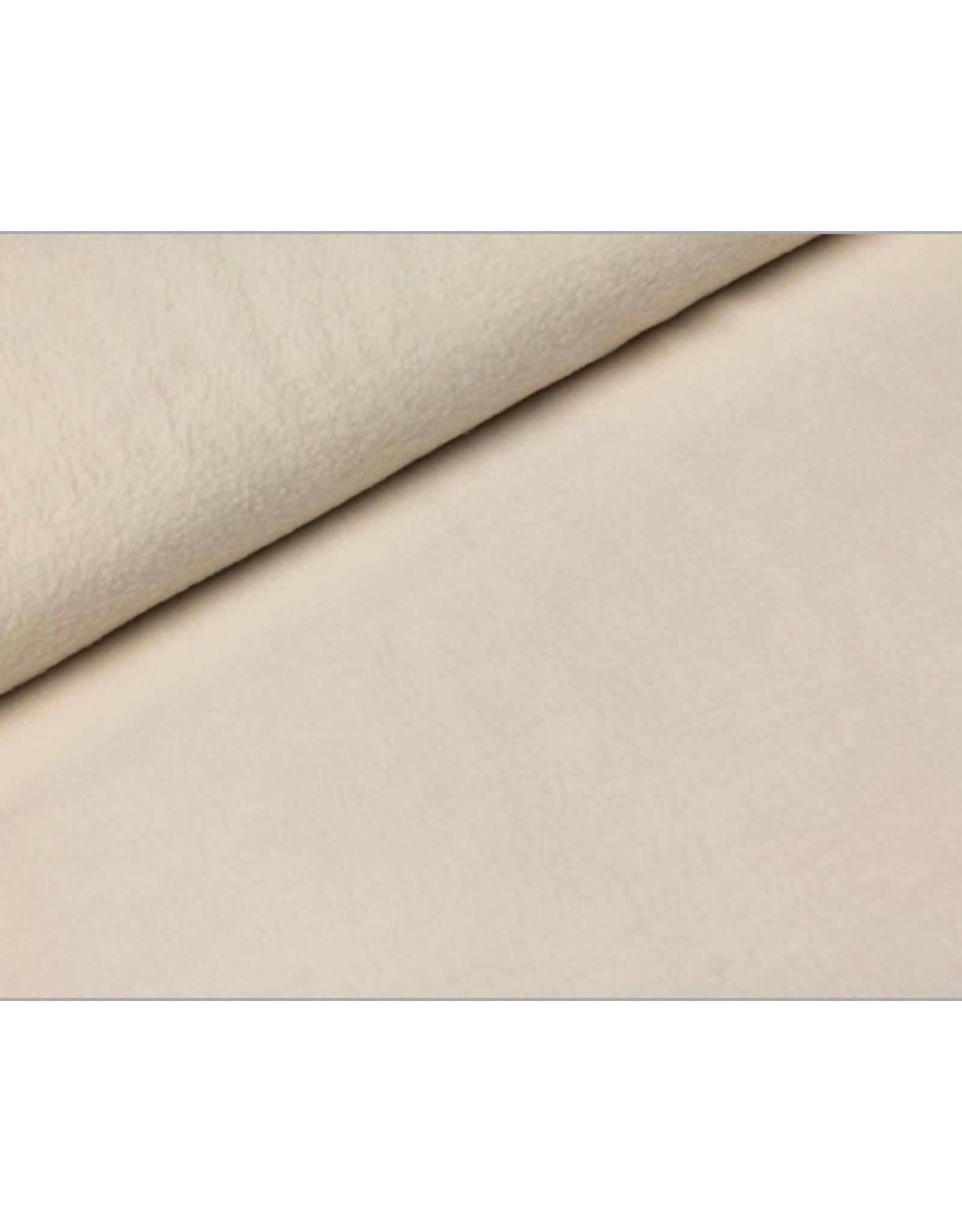 Polar Fleece stof Cremé