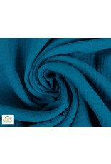 Musselin stoff Baumwolle Turquoise