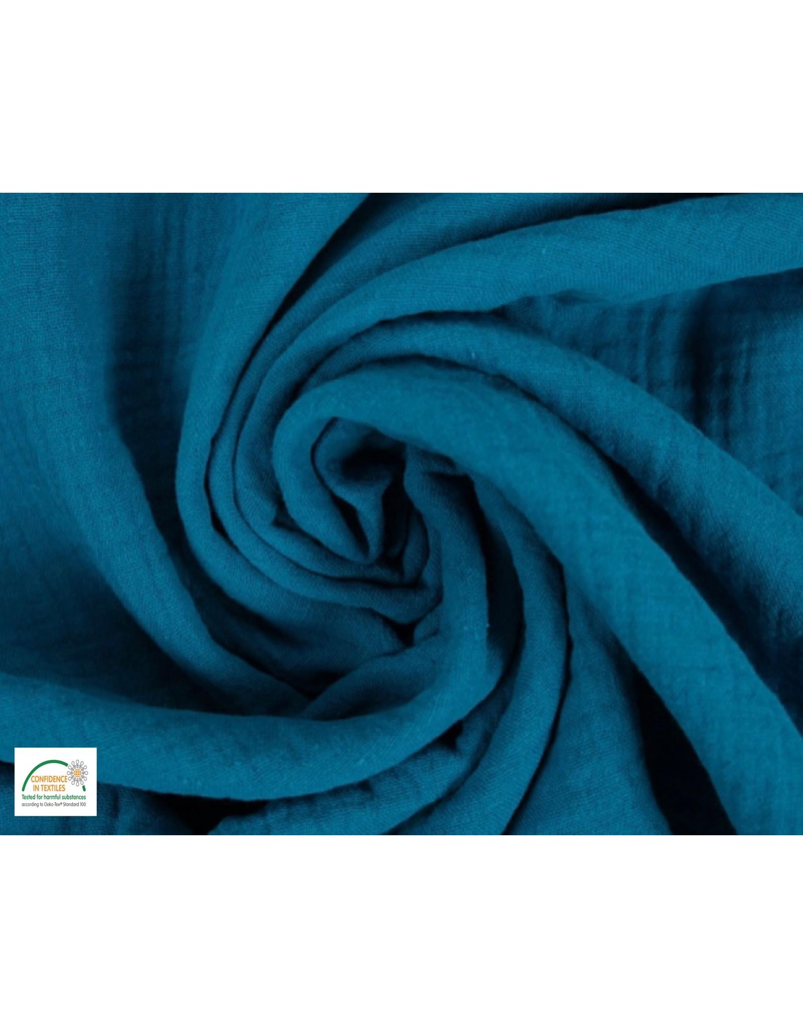 Double Gauze Cotton Turquoise