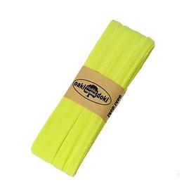 Schrägband jersey 3 m - Fluor Gelb