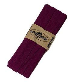 Schrägband jersey 3 m - Bordeaux