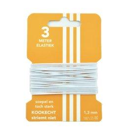 3 m Hut elastisch Weiß 3 mm