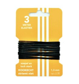 5 m Hat elastic black 3 mm - Copy