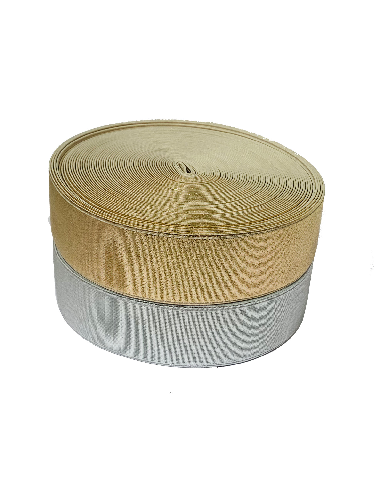 Goud / Zilver Elastiek 40 mm