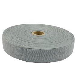 Keperband Katoen 30 mm zilver