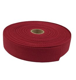 Keperband Katoen 30 mm bordo
