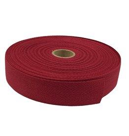 Twill tape cotton 30 mm bordo